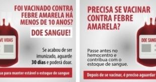 Ministério da Saúde e Anvisa lançam critérios para doação de sangue devido à febre amarela